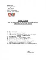 Appel d'offre pour la reconversion de l'ancienne réserve à incendie et restauration de l'aval du ruisseau