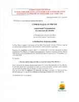 Communiqué de presse concernant l'organisation d'un concours de dessins