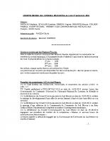 Compte-rendu de la séance du conseil municipal du 1er septembre 2014