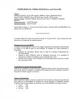 Compte-rendu de la séance du conseil municipal du 2 février 2015