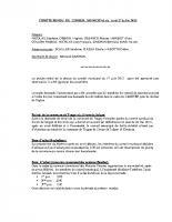Compte-rendu de la séance du conseil municipal du 27 juillet 2015