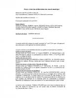 P.V. Délibération de la séance du conseil municipal du 29 avril 2014